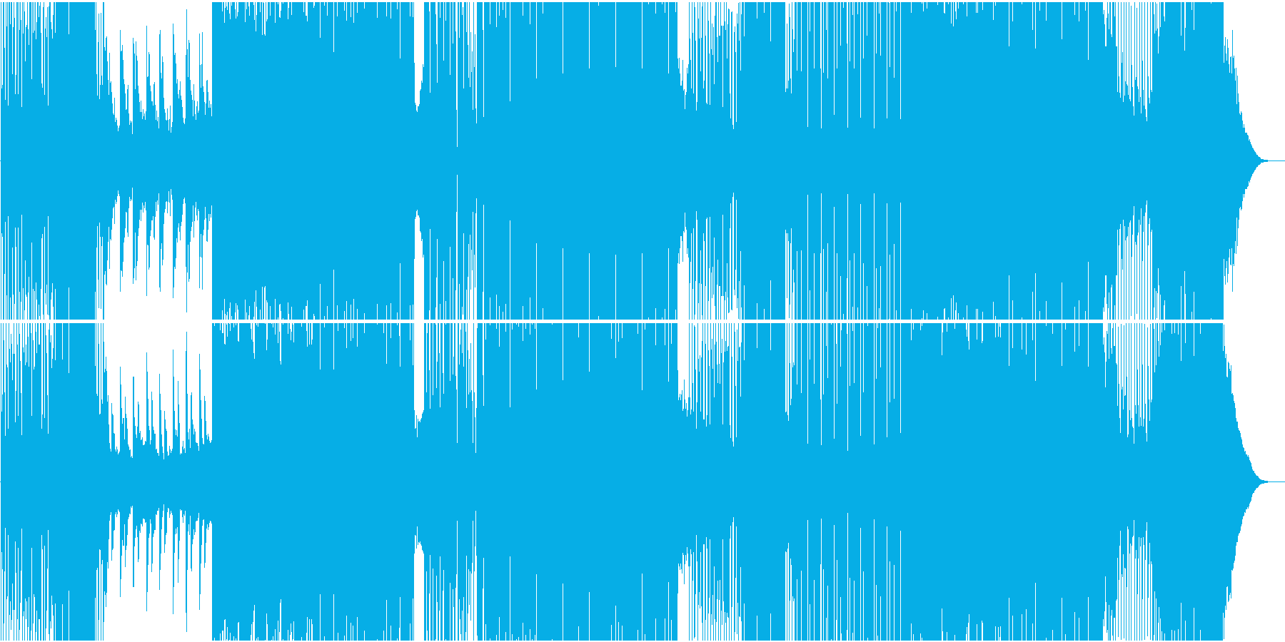 ゆったり爽やかトロピカル系EDMの再生済みの波形