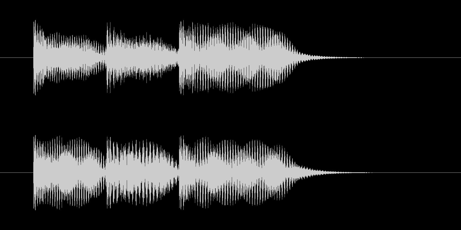 案内放送チャイム(ピーンポーンパーン)の未再生の波形