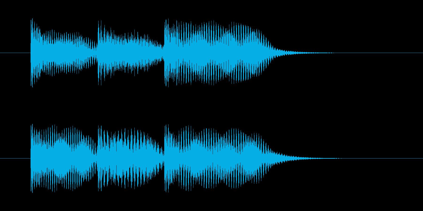 案内放送チャイム(ピーンポーンパーン)の再生済みの波形