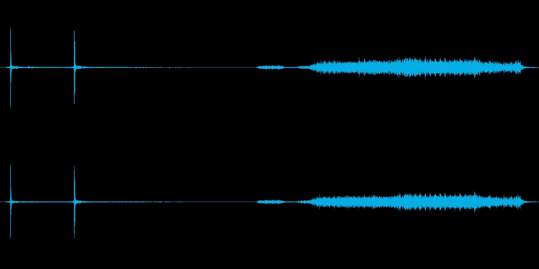 デジカメの電源を切るときの音の再生済みの波形
