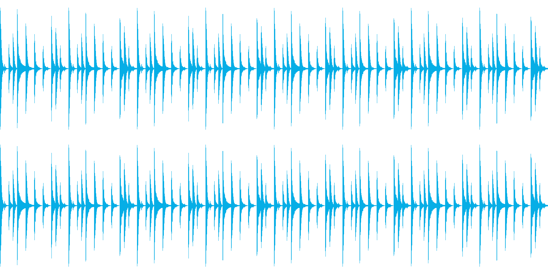 Future bassのドラムパターン2の再生済みの波形