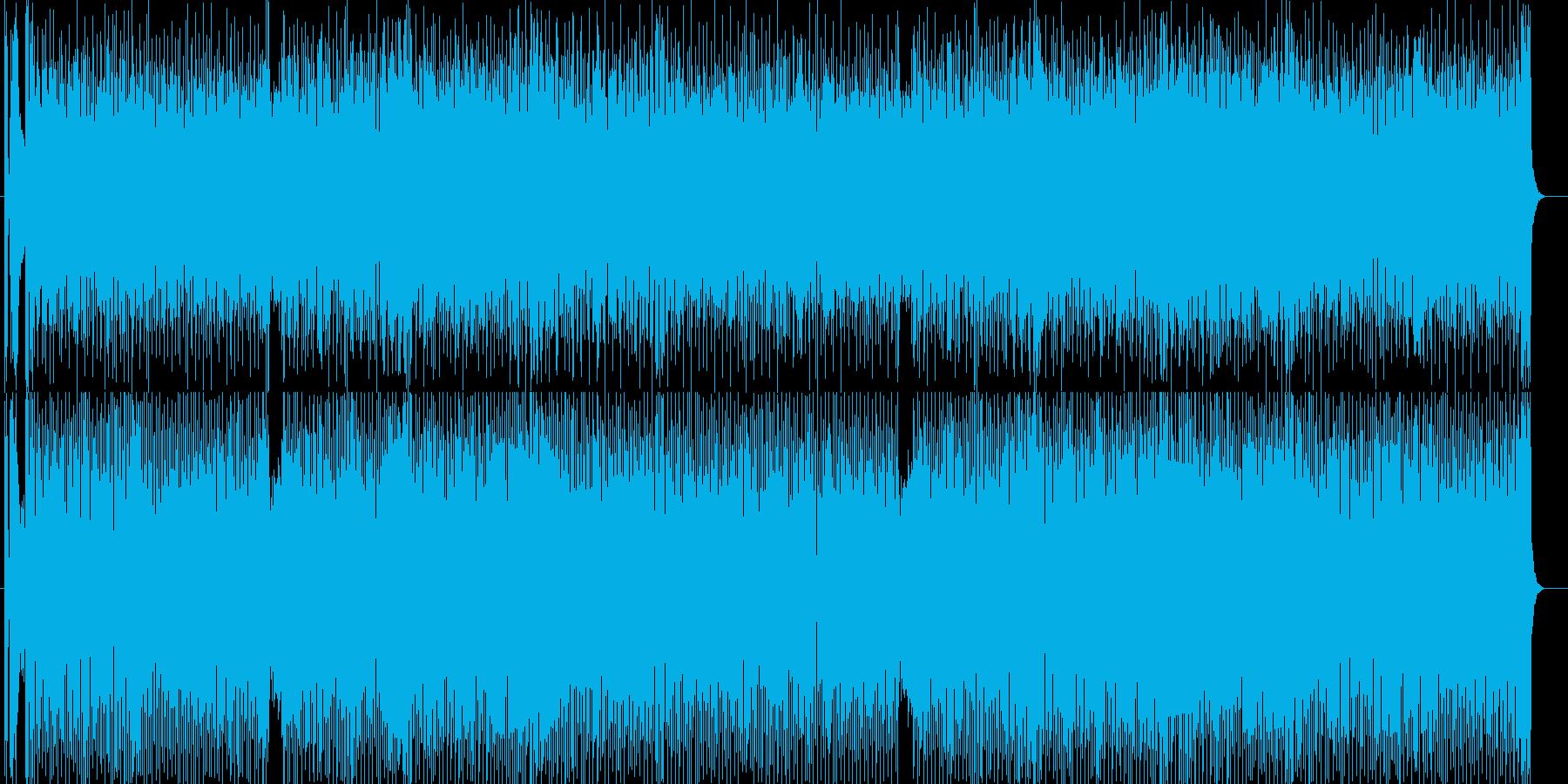 軽快で明るいポップスの再生済みの波形