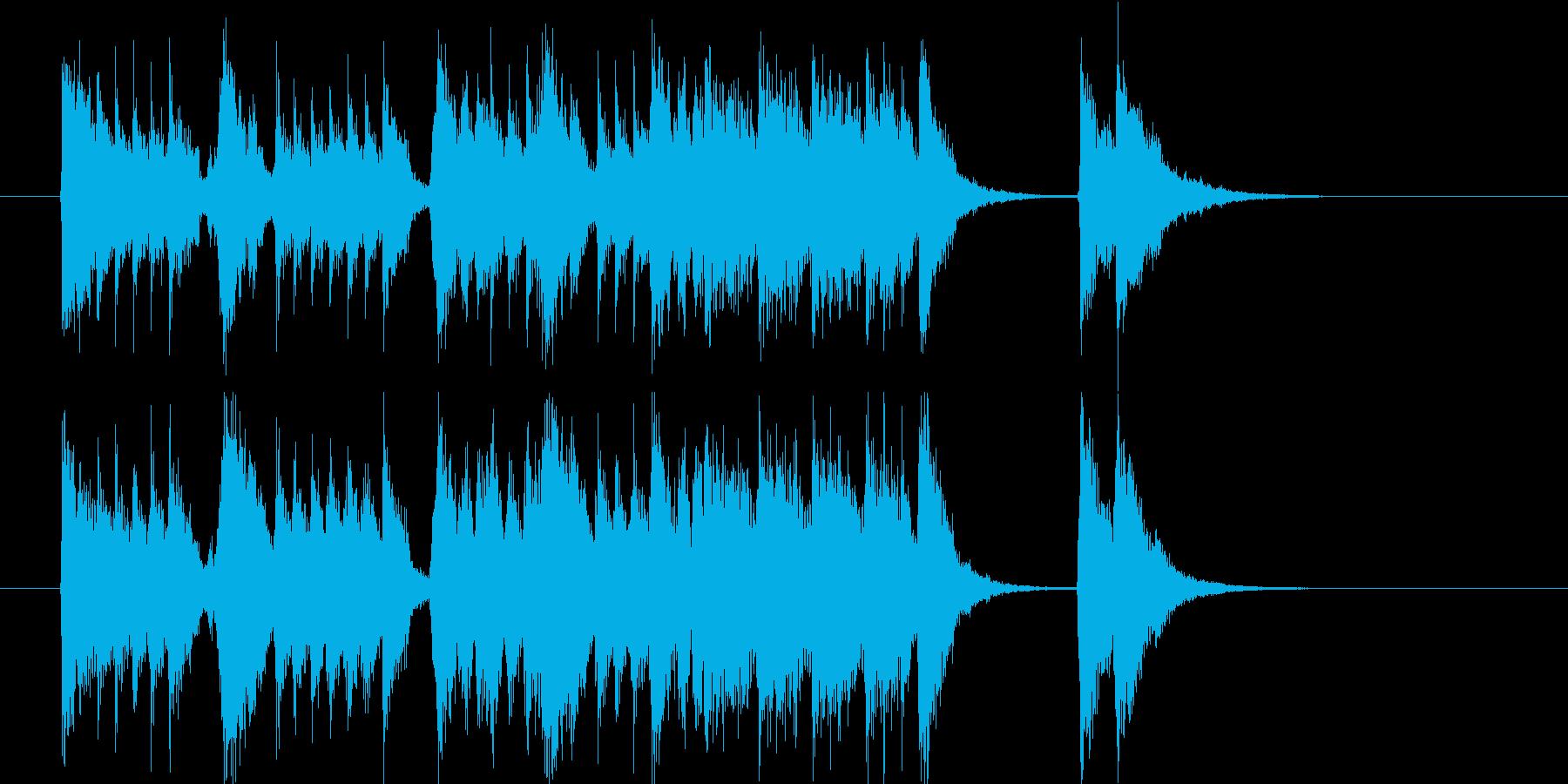 打楽器と音声による来店を歓迎する効果音の再生済みの波形
