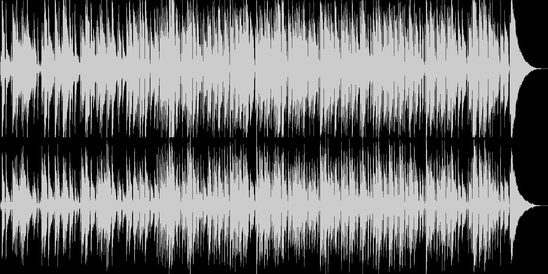 明るいゆっくりしたテンポのピアノ音の未再生の波形
