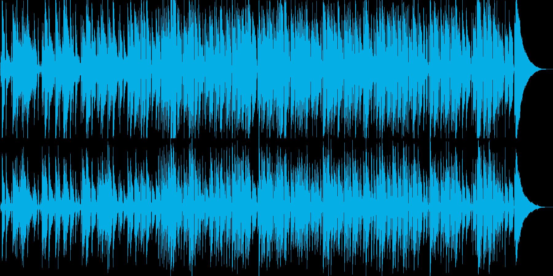 明るいゆっくりしたテンポのピアノ音の再生済みの波形