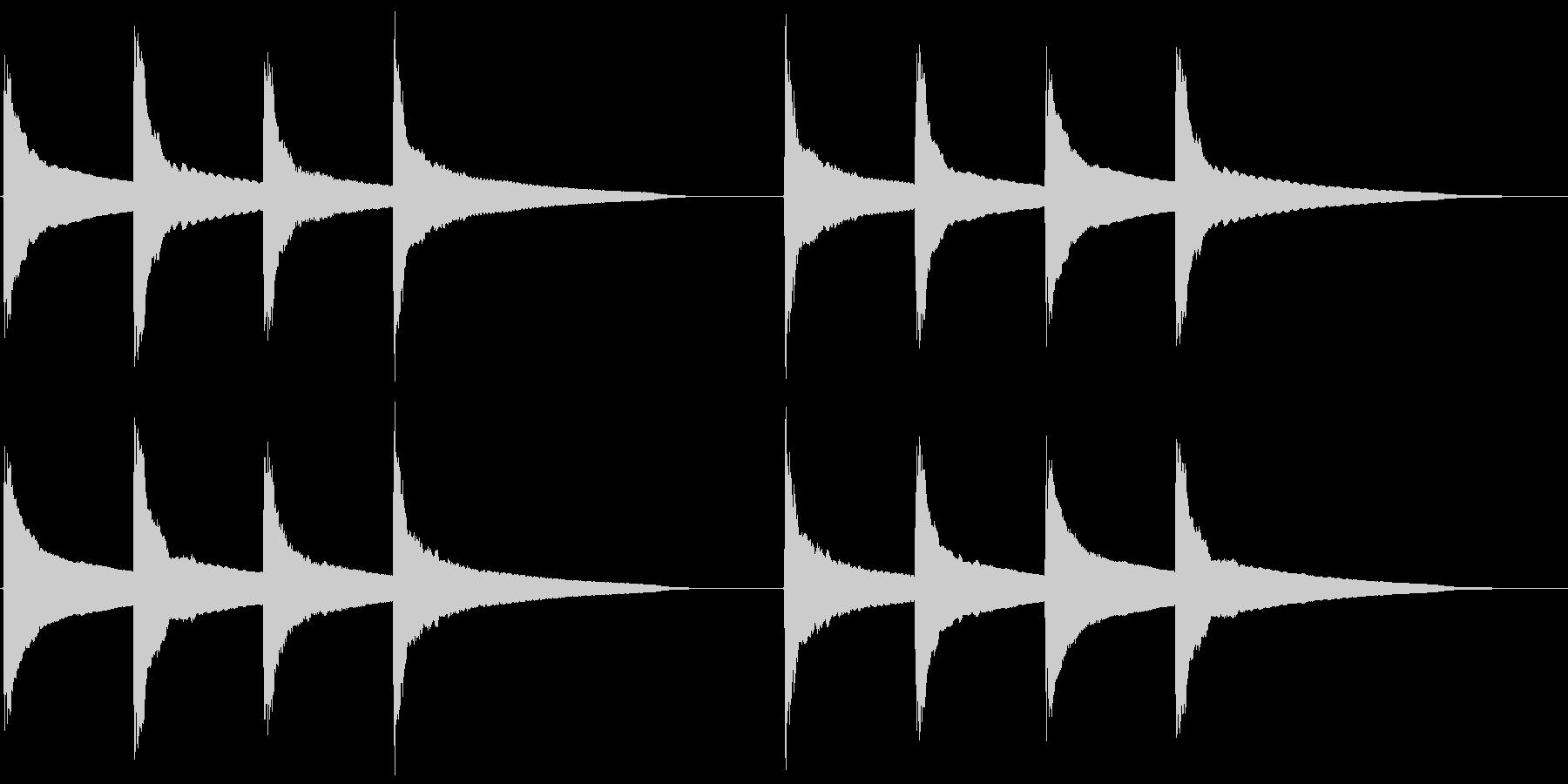 ピンポンパンポン (2) の未再生の波形