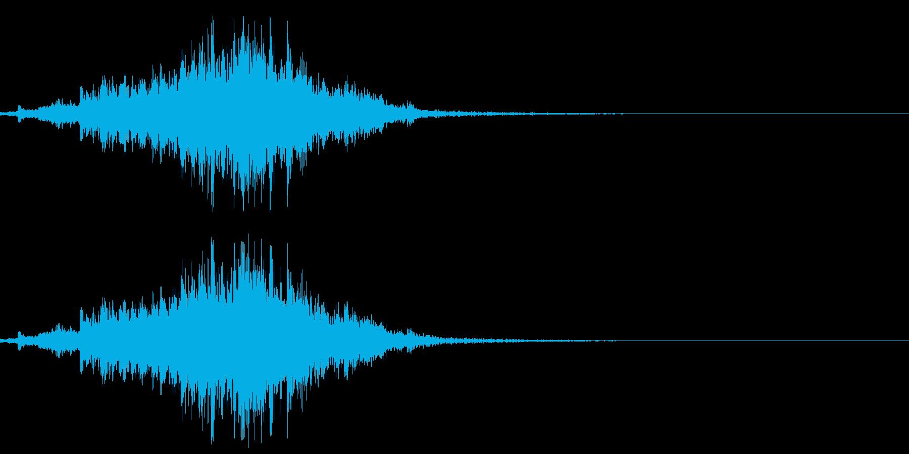 シャララララ・神楽鈴の効果音エフェクト有の再生済みの波形