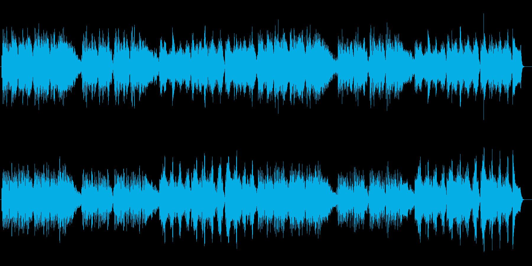 囁きのような優しいシンセサウンドの再生済みの波形