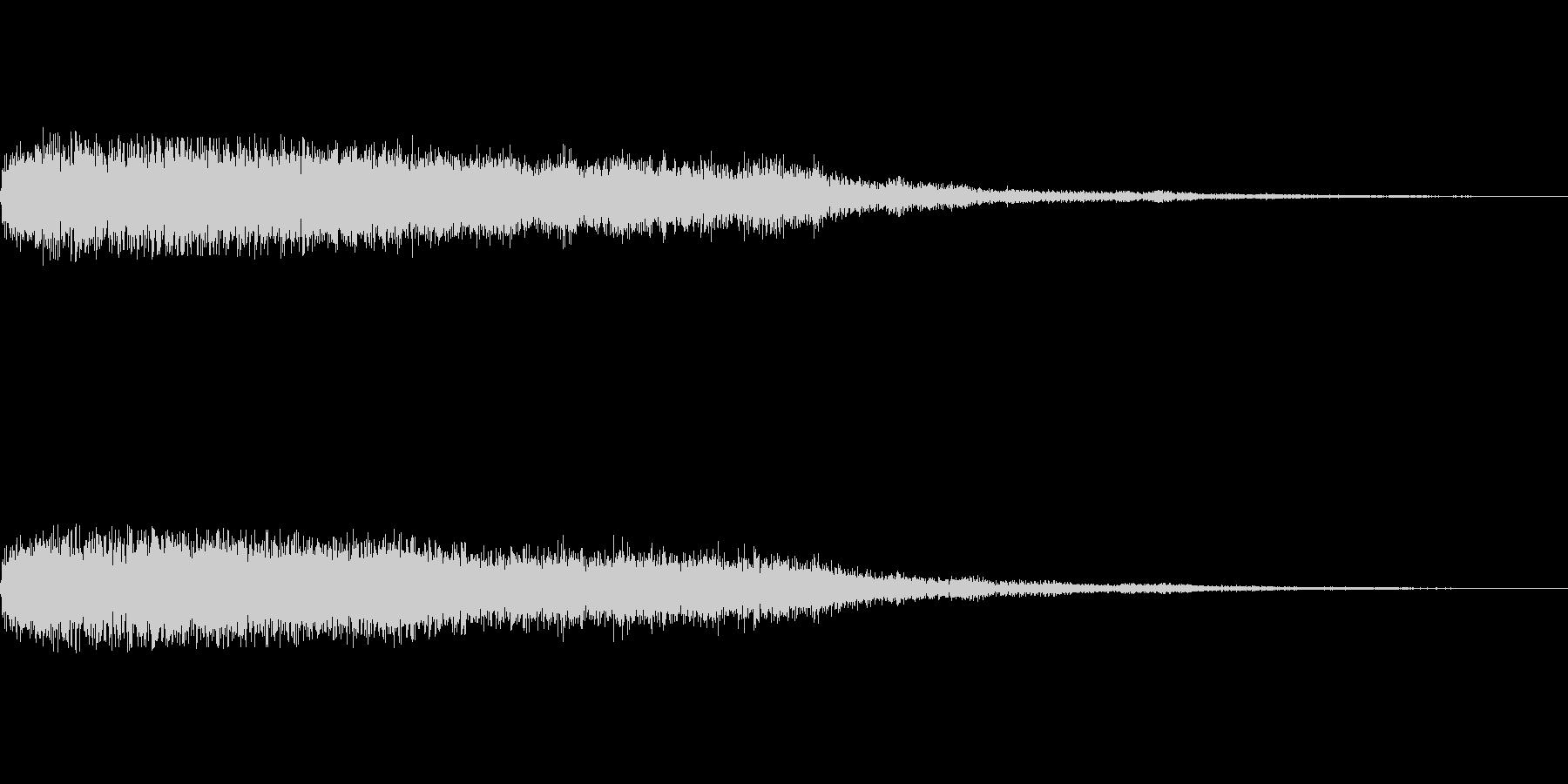[ピュイーン]魔法、発光(鋭く長い)の未再生の波形