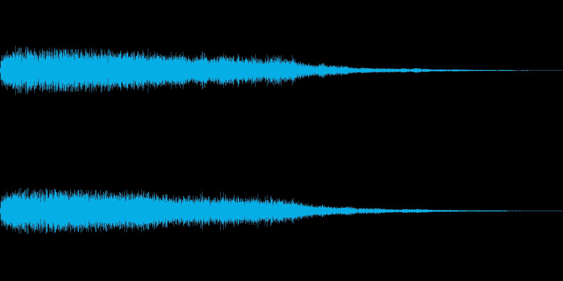 [ピュイーン]魔法、発光(鋭く長い)の再生済みの波形