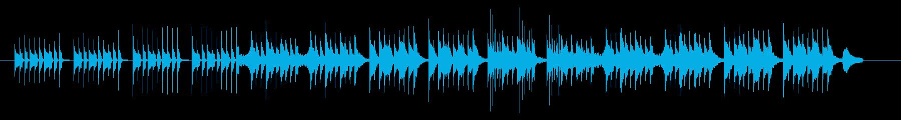 のほほんとしたかわいいBGMの再生済みの波形