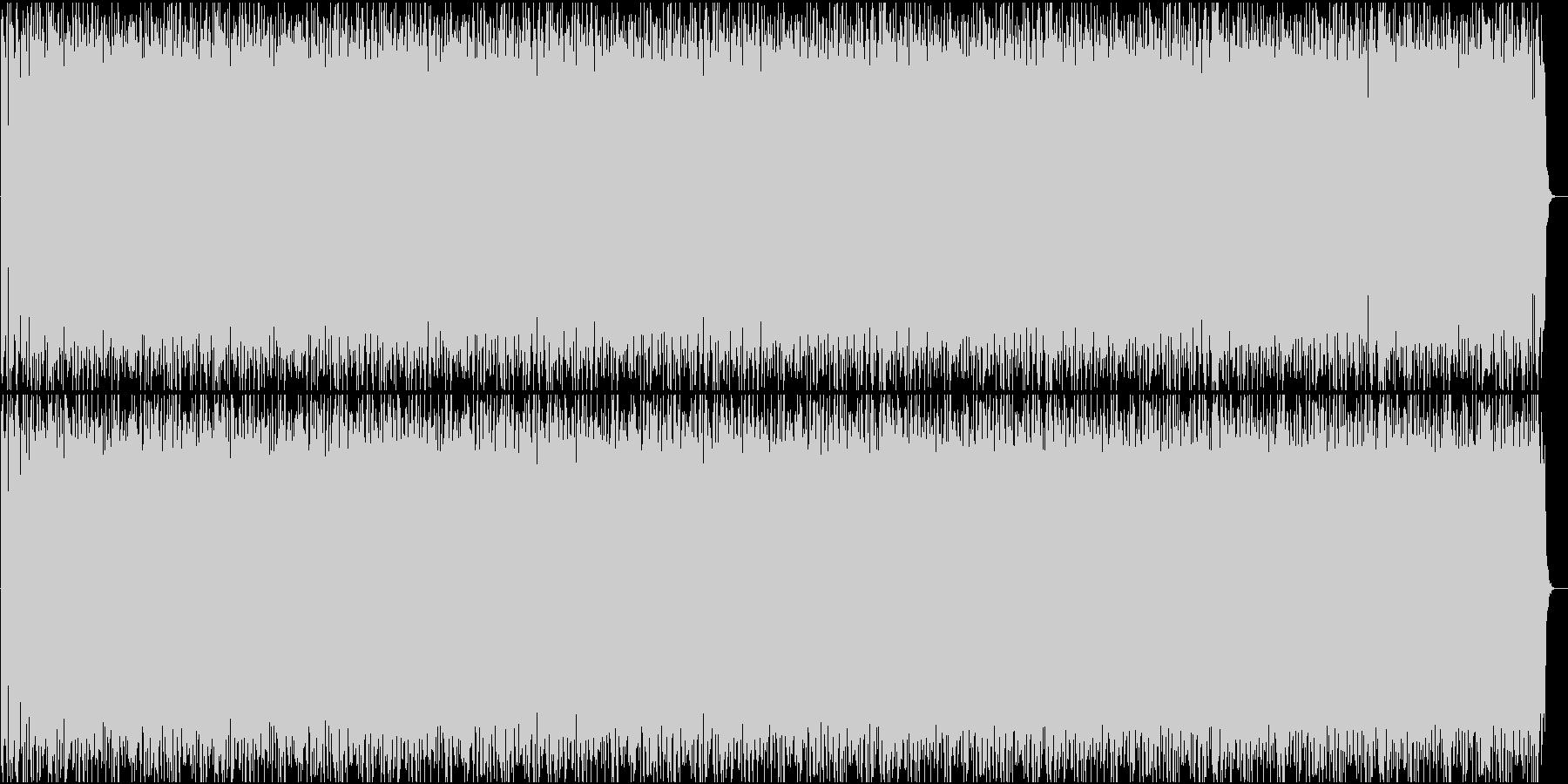 ベースがうねる四つ打ちダンスミュージックの未再生の波形