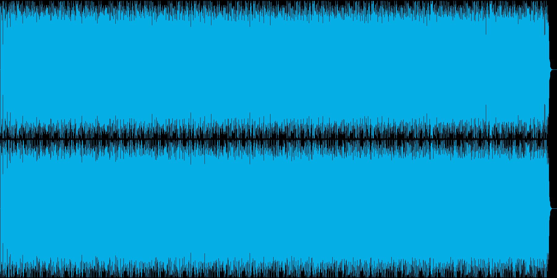 ベースがうねる四つ打ちダンスミュージックの再生済みの波形