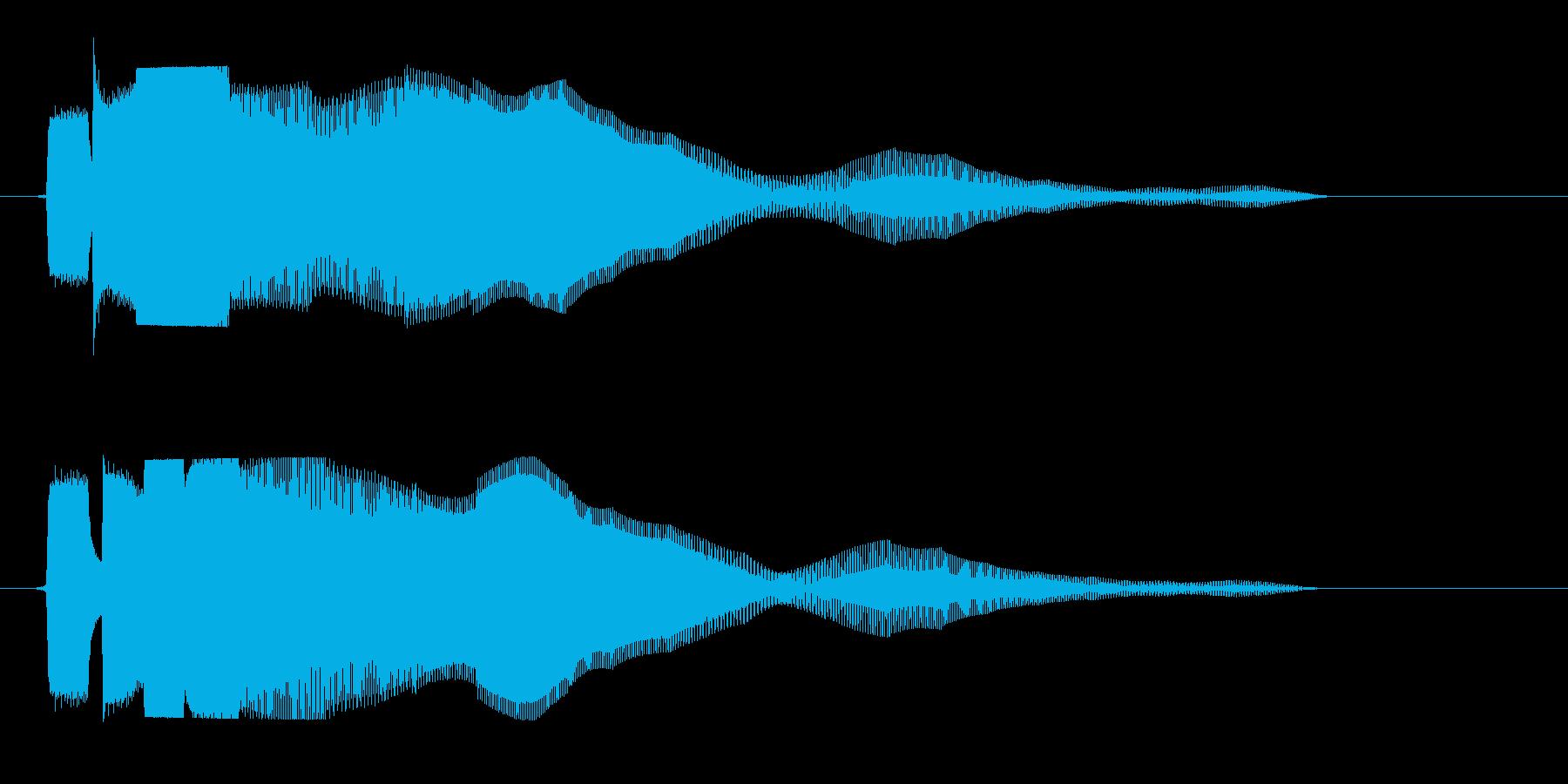 ピヨヨ〜ン(高くてかわいらしい感じ)の再生済みの波形