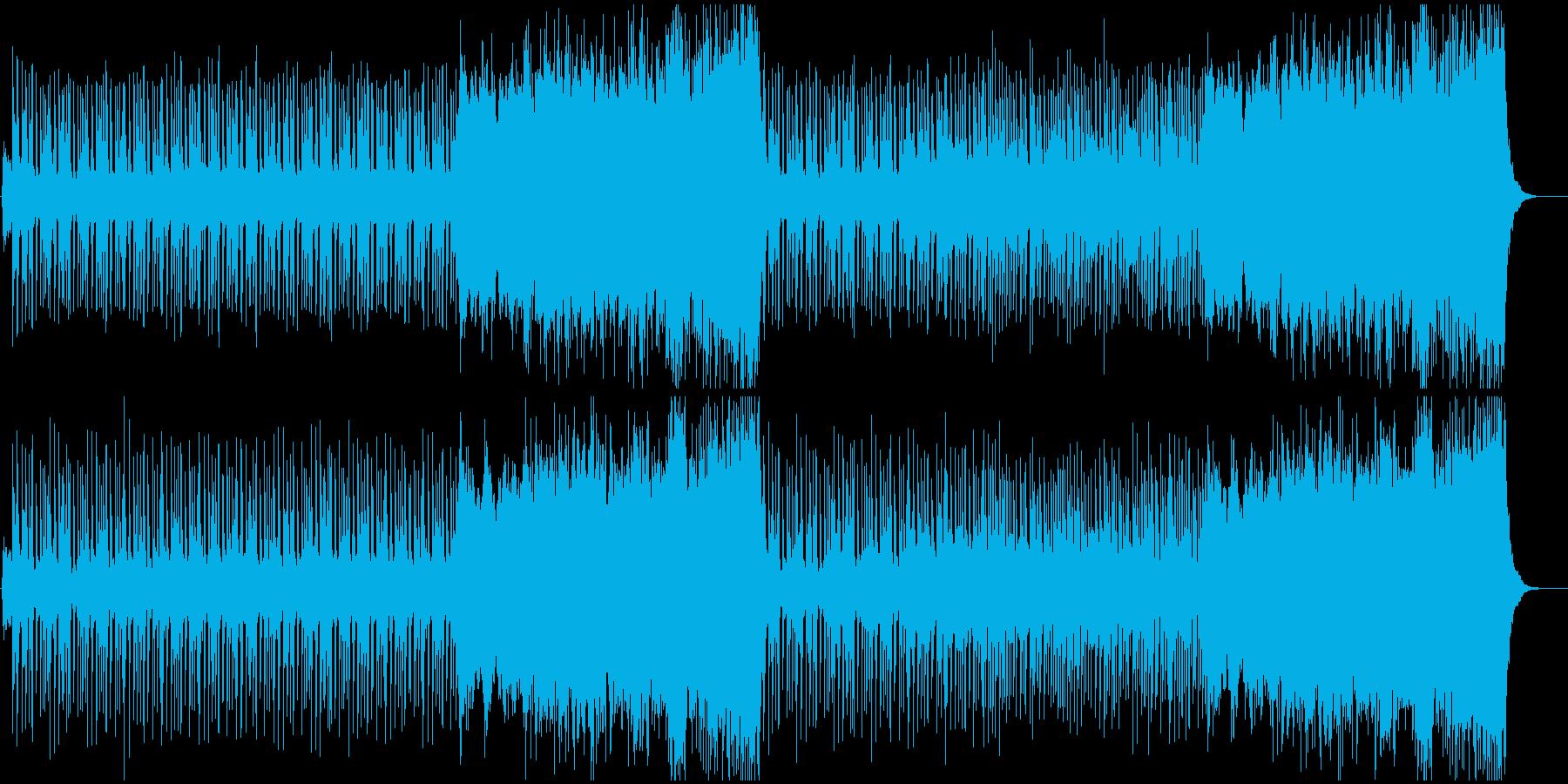 颯爽と歩くイメージのオーケストラBGMの再生済みの波形