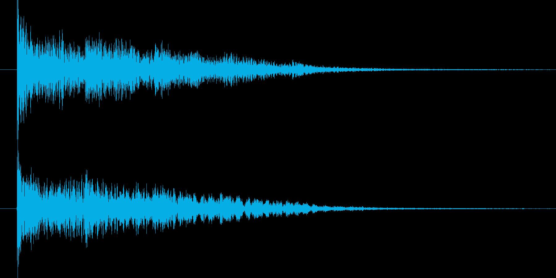 ピュン(銃声)の再生済みの波形