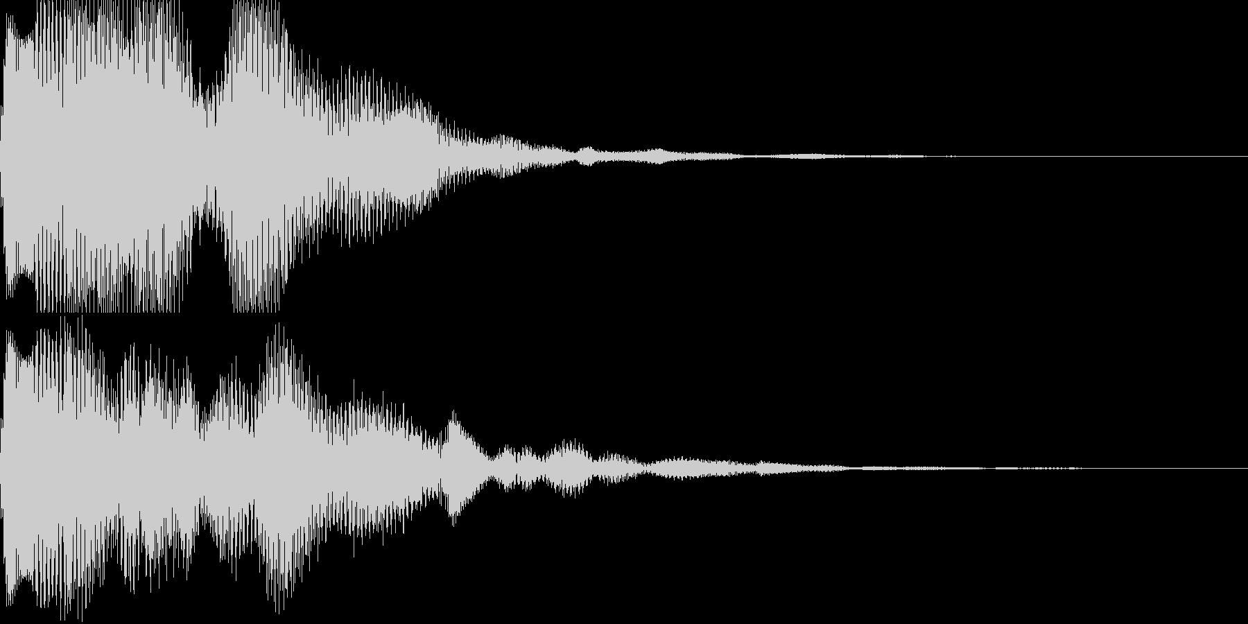汎用決定ボタン - 8の未再生の波形