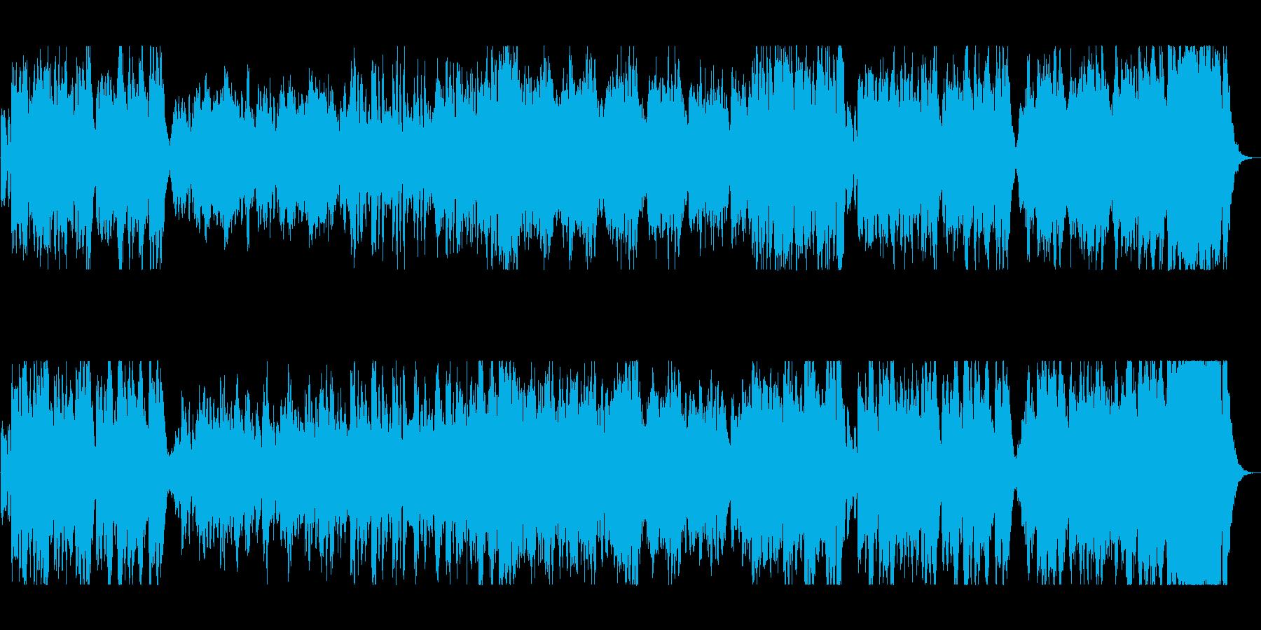 明るくワクワク感のシンセオルガンサウンドの再生済みの波形