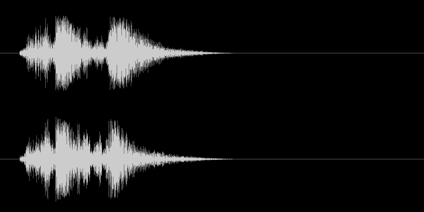 チャッ(金属が擦れる音)の未再生の波形