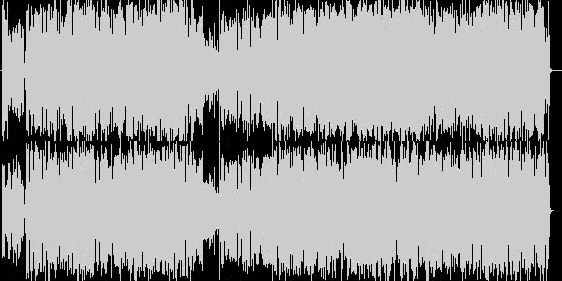アップテンポのシンセハウスの未再生の波形