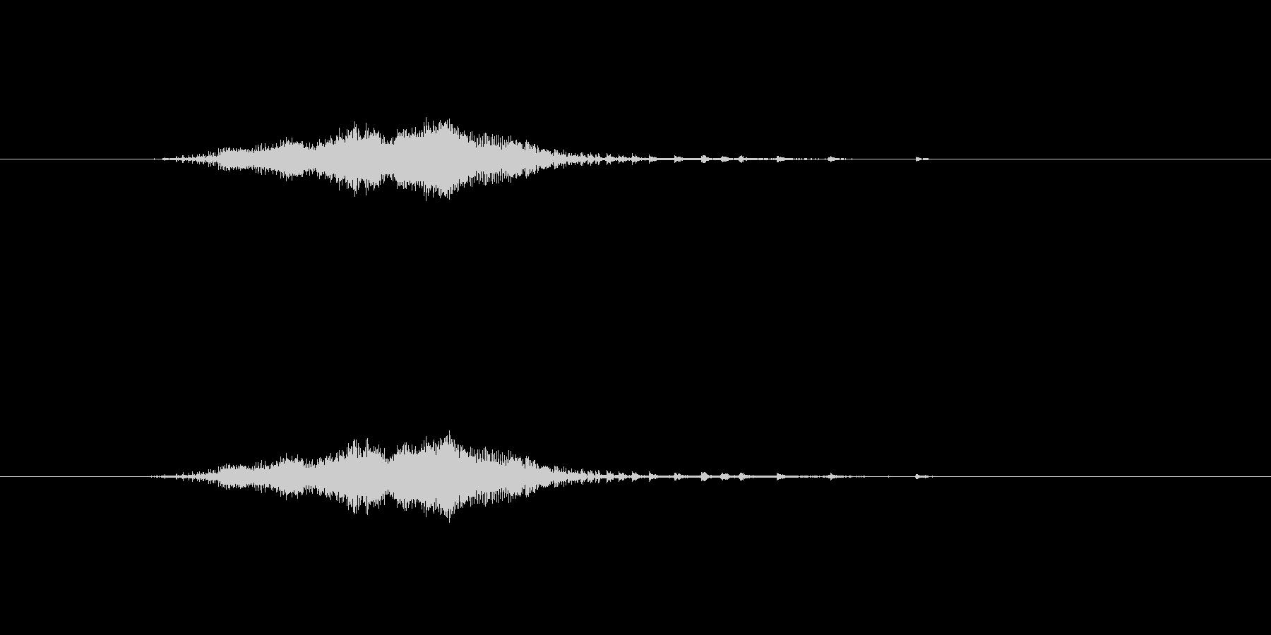 目が細かいジャンパーのファスナーの音の未再生の波形