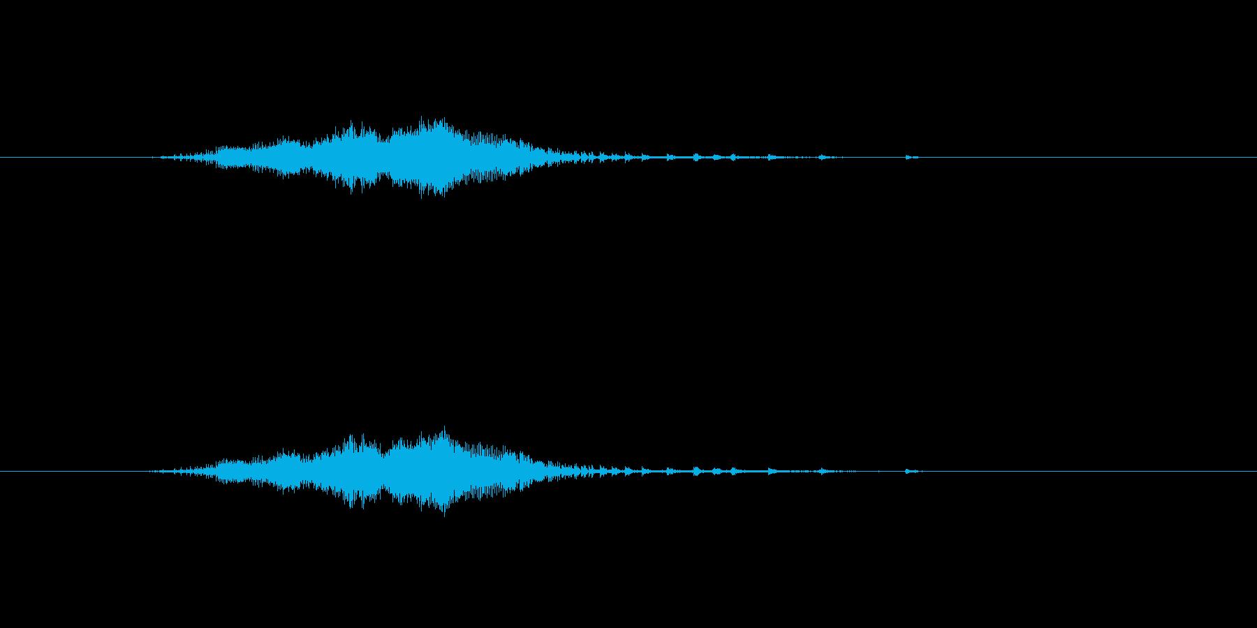 目が細かいジャンパーのファスナーの音の再生済みの波形