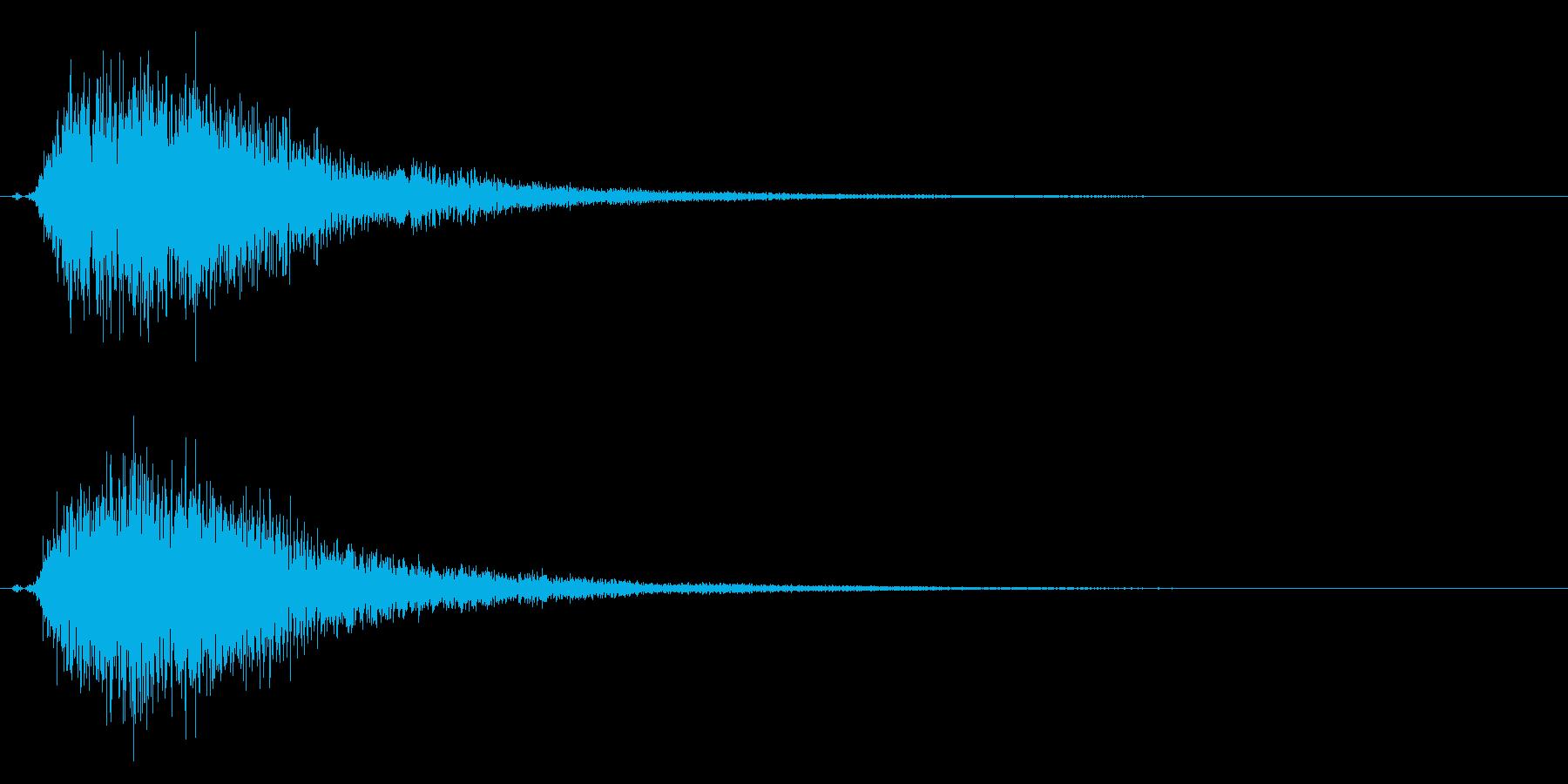 タッチ決定クリックやサウンドロゴに!23の再生済みの波形