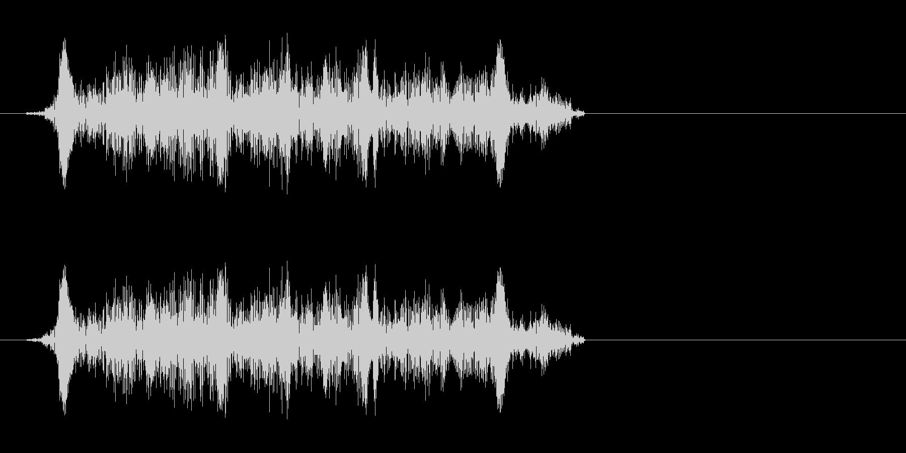 キュッ(ギターなどの弦を擦る音)の未再生の波形