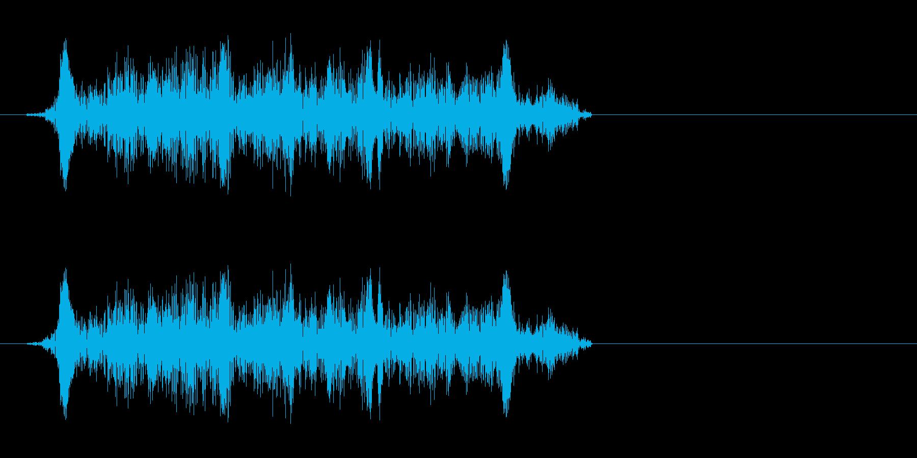 キュッ(ギターなどの弦を擦る音)の再生済みの波形