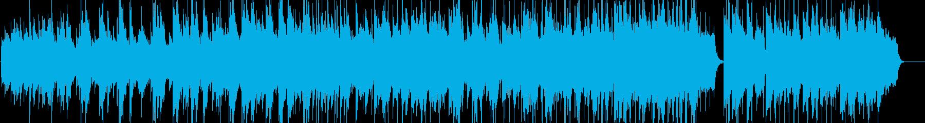 爽やかな朝の目覚めをイメージしたBGMの再生済みの波形