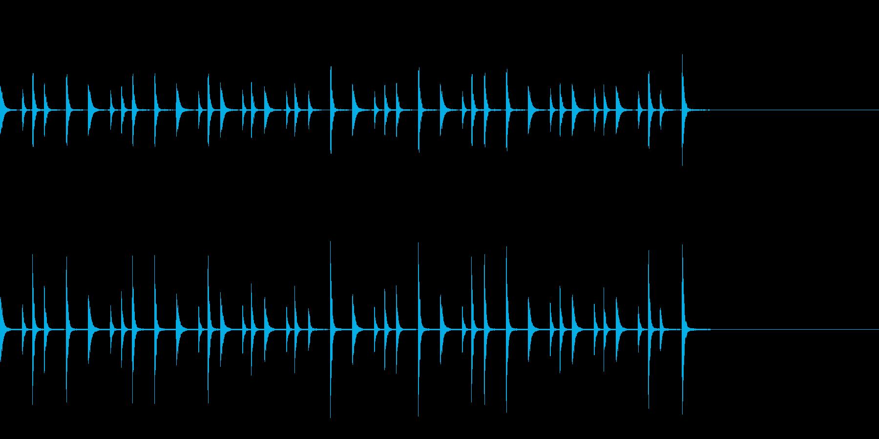 お囃子祭り軽快なコンチキのフレーズ音FXの再生済みの波形