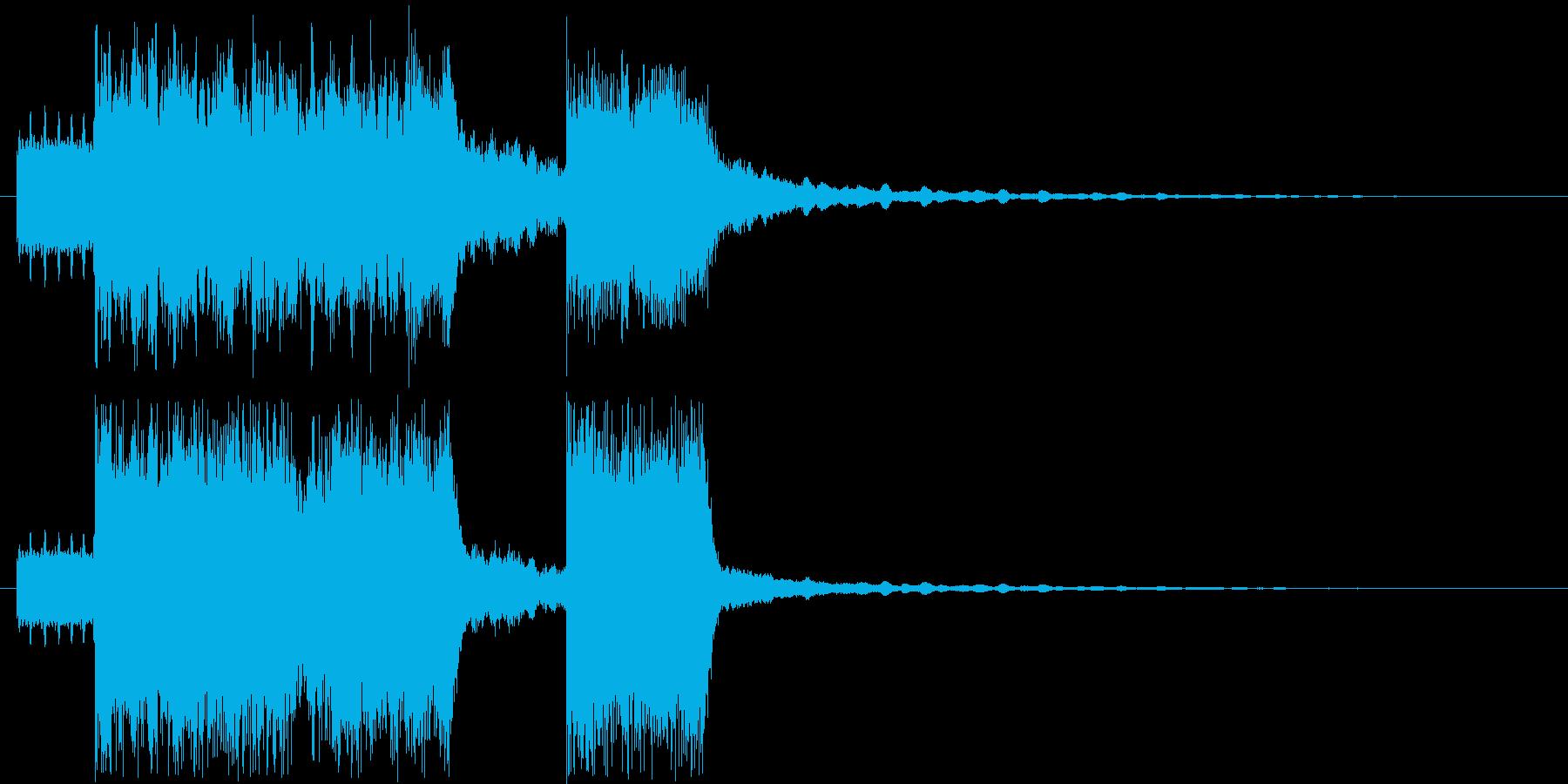 ショートでインパクト大な電子ジングルの再生済みの波形