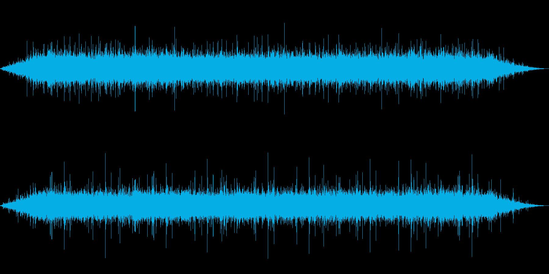 雨 雨音(家、屋根、窓などに当たる音)3の再生済みの波形