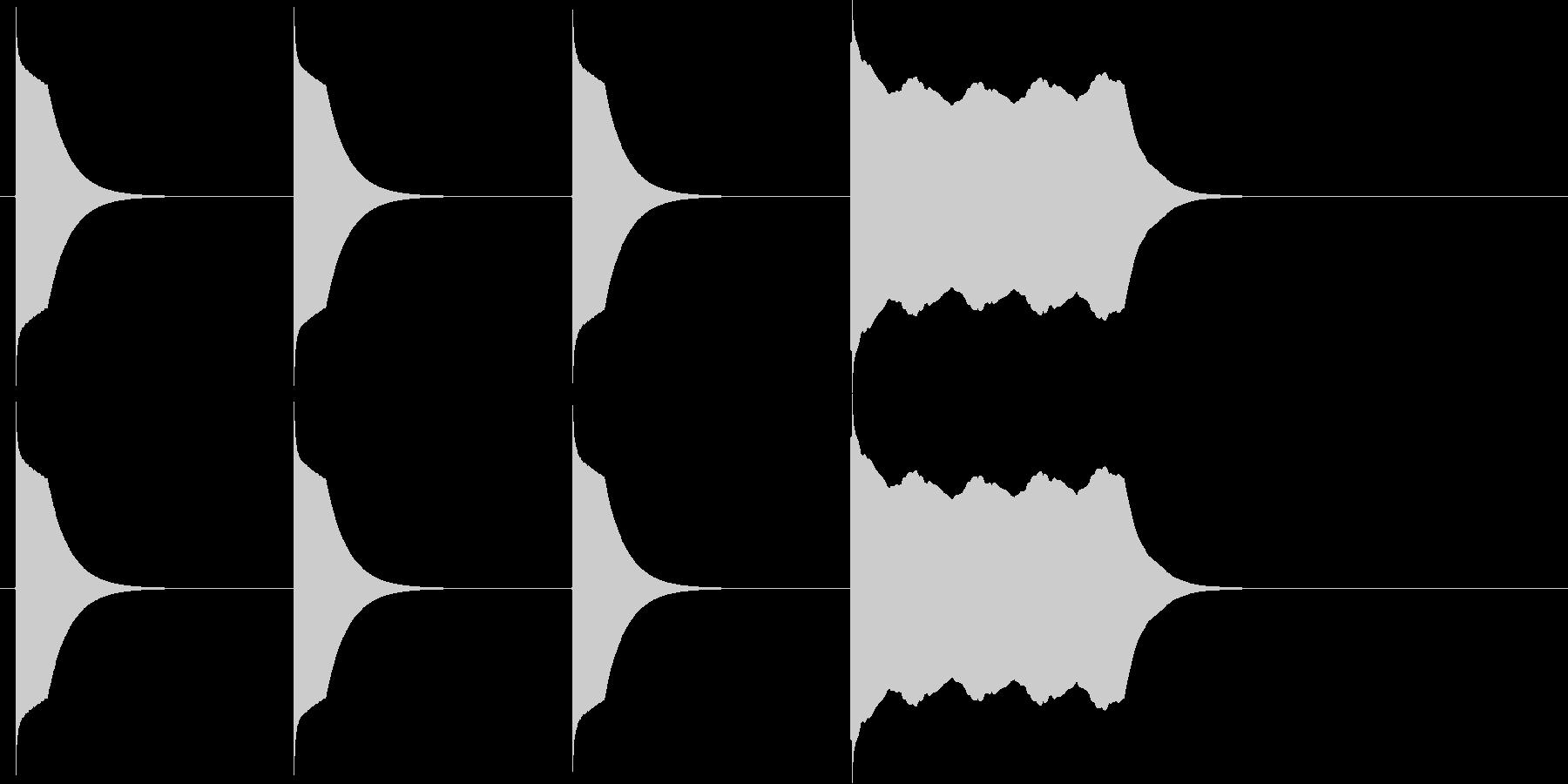 シンプルなよーいドンの音の未再生の波形