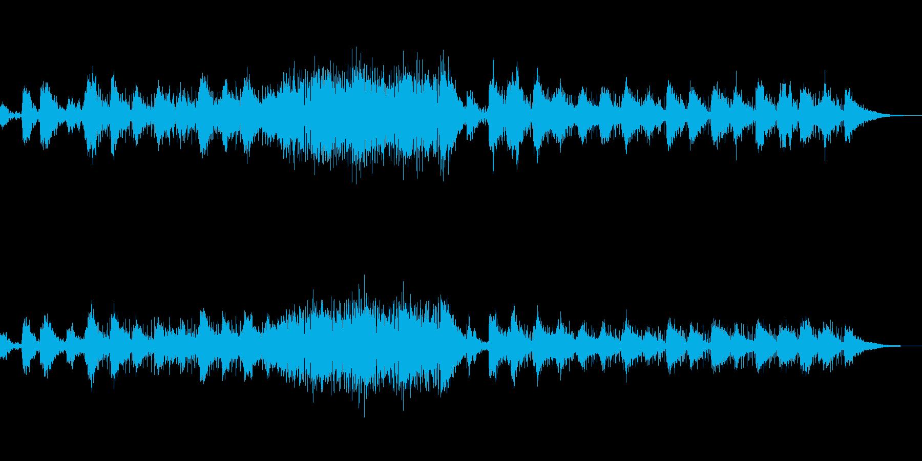 シネマティックなギターサウンドスケープの再生済みの波形