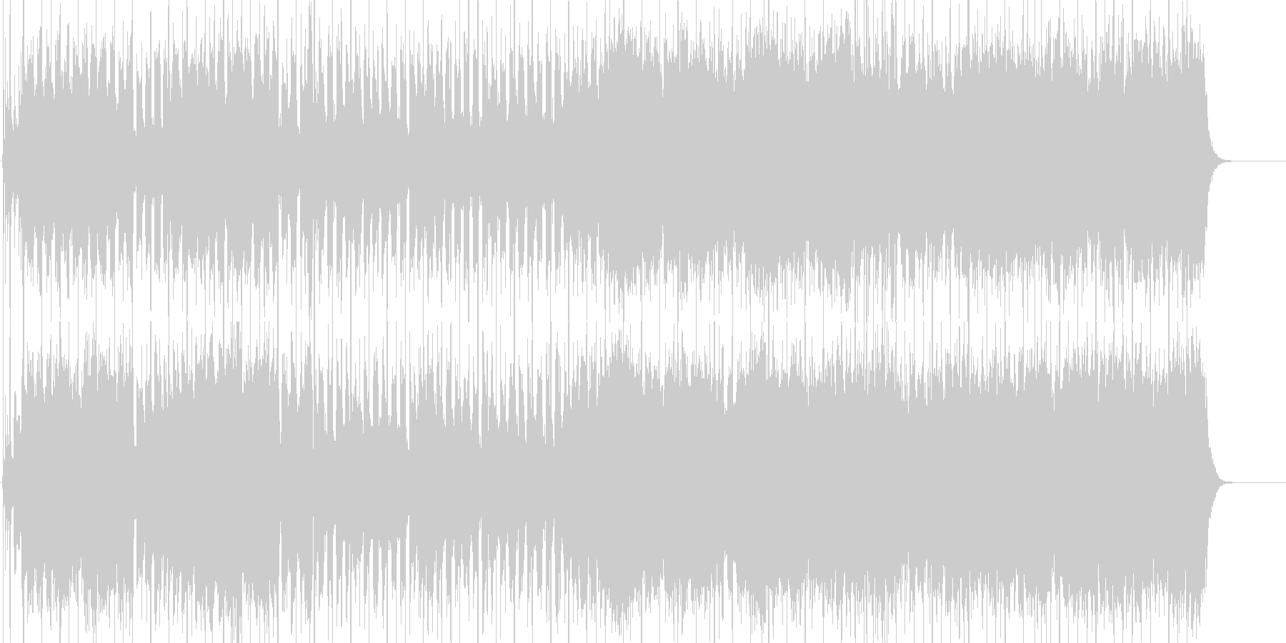 明るく疾走感のある軽快なポップロックの未再生の波形