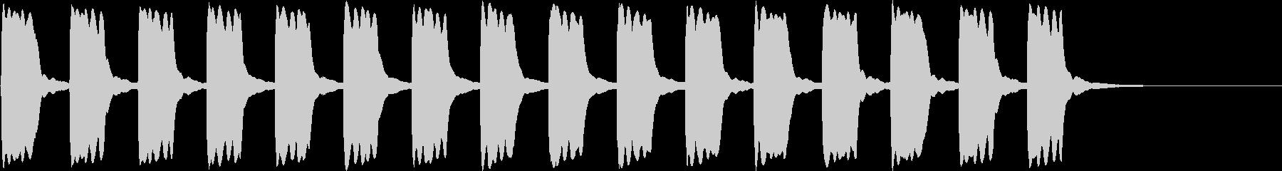 ピーピー...。緊急事態の警報音B(長)の未再生の波形
