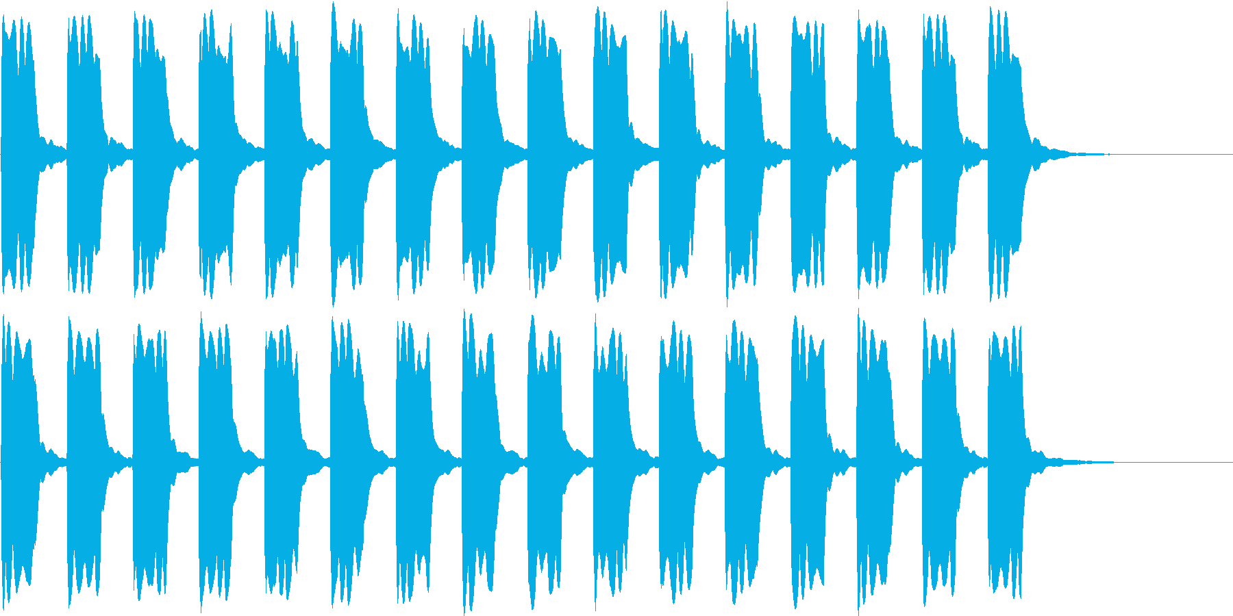 ピーピー...。緊急事態の警報音B(長)の再生済みの波形