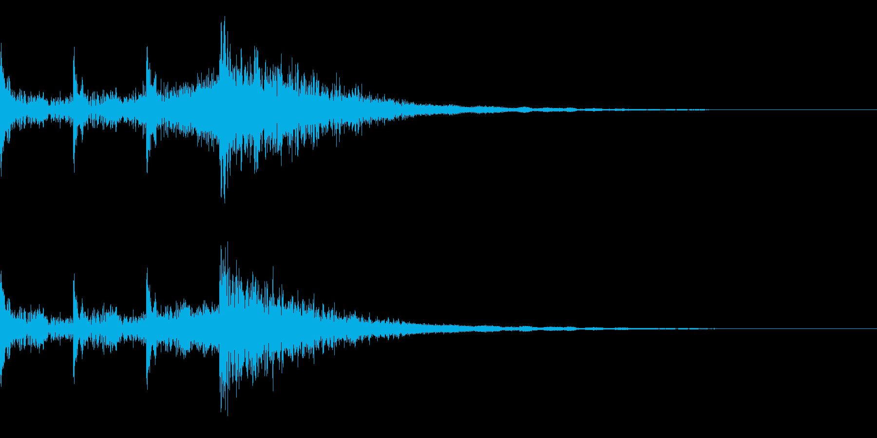 時限爆弾 3秒前 ピ、ピ、ピ、ボン の再生済みの波形