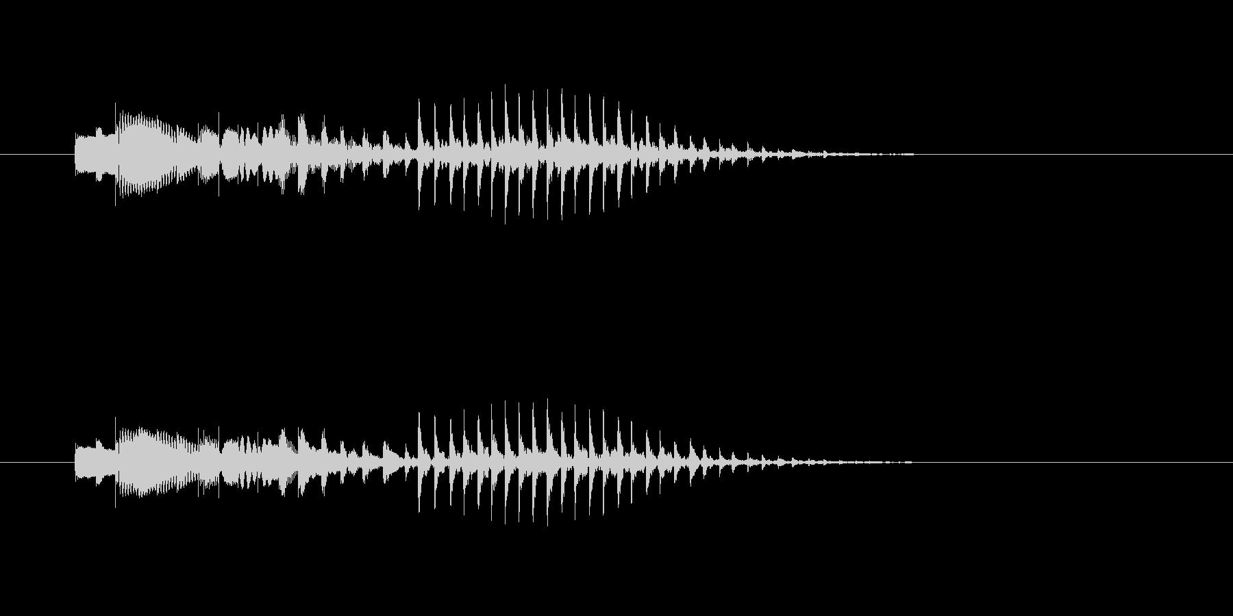 ポパパパ~ン(明るくテンポの早い木琴音)の未再生の波形