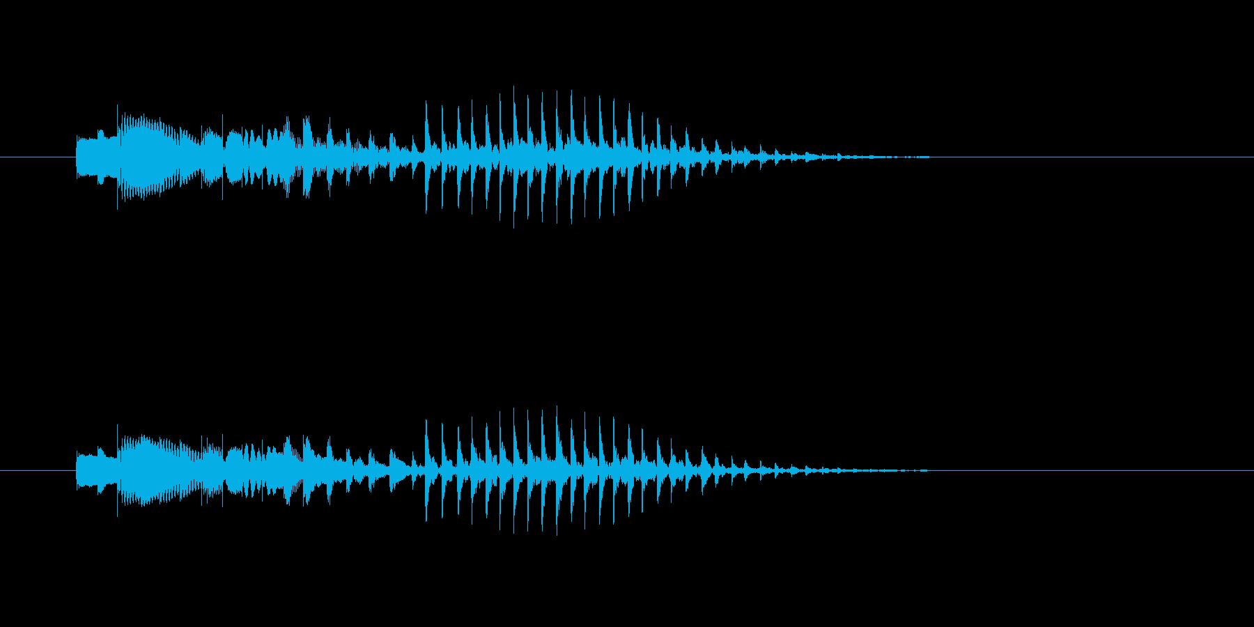 ポパパパ~ン(明るくテンポの早い木琴音)の再生済みの波形