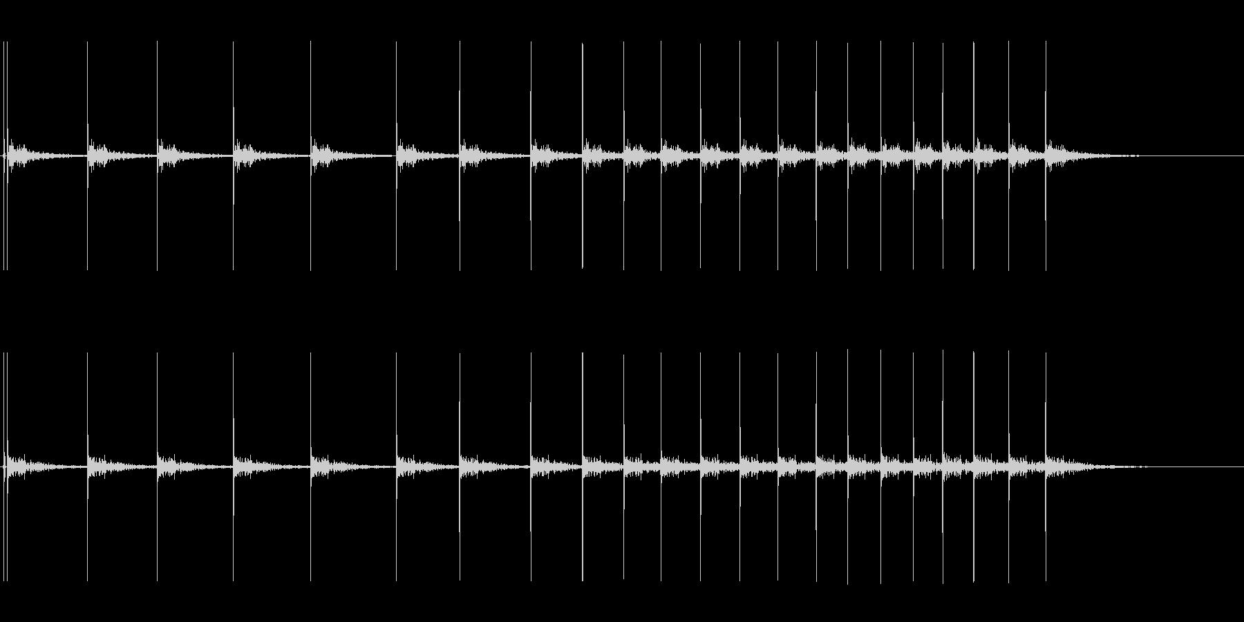 コツコツコツの未再生の波形