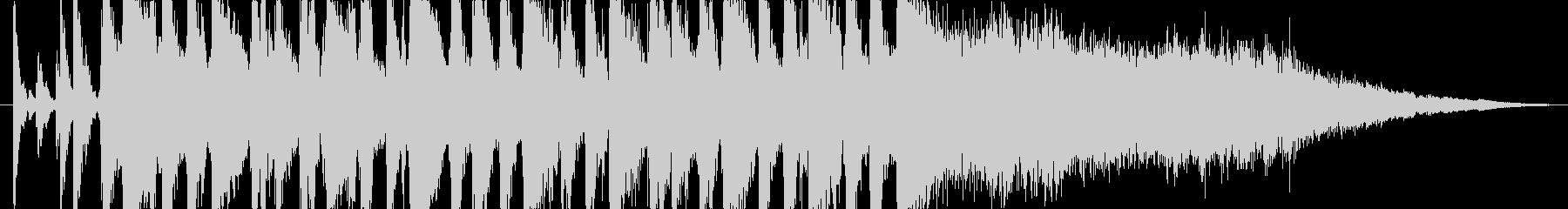 疾走感のある15秒のジャズ・サンバの未再生の波形