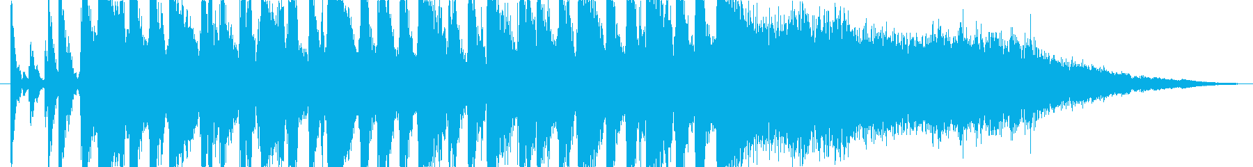 疾走感のある15秒のジャズ・サンバの再生済みの波形