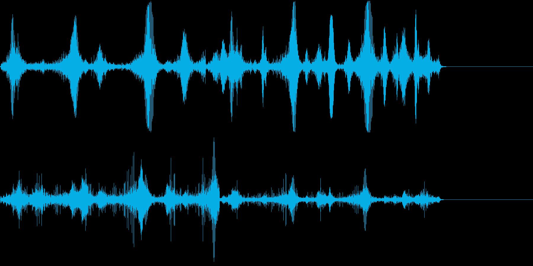 【SE 効果音】不気味な音6の再生済みの波形