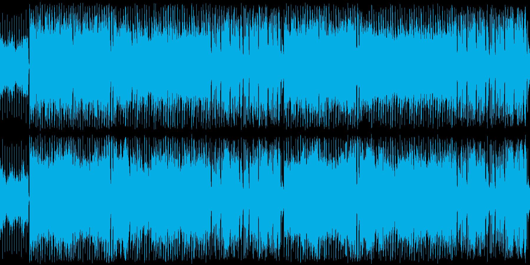 ゴージャスな雰囲気のインスト楽曲ループの再生済みの波形