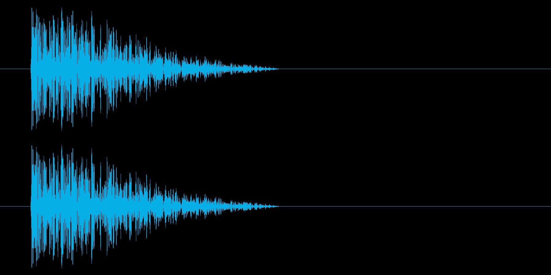 アーケード アクション01-7(爆発) の再生済みの波形