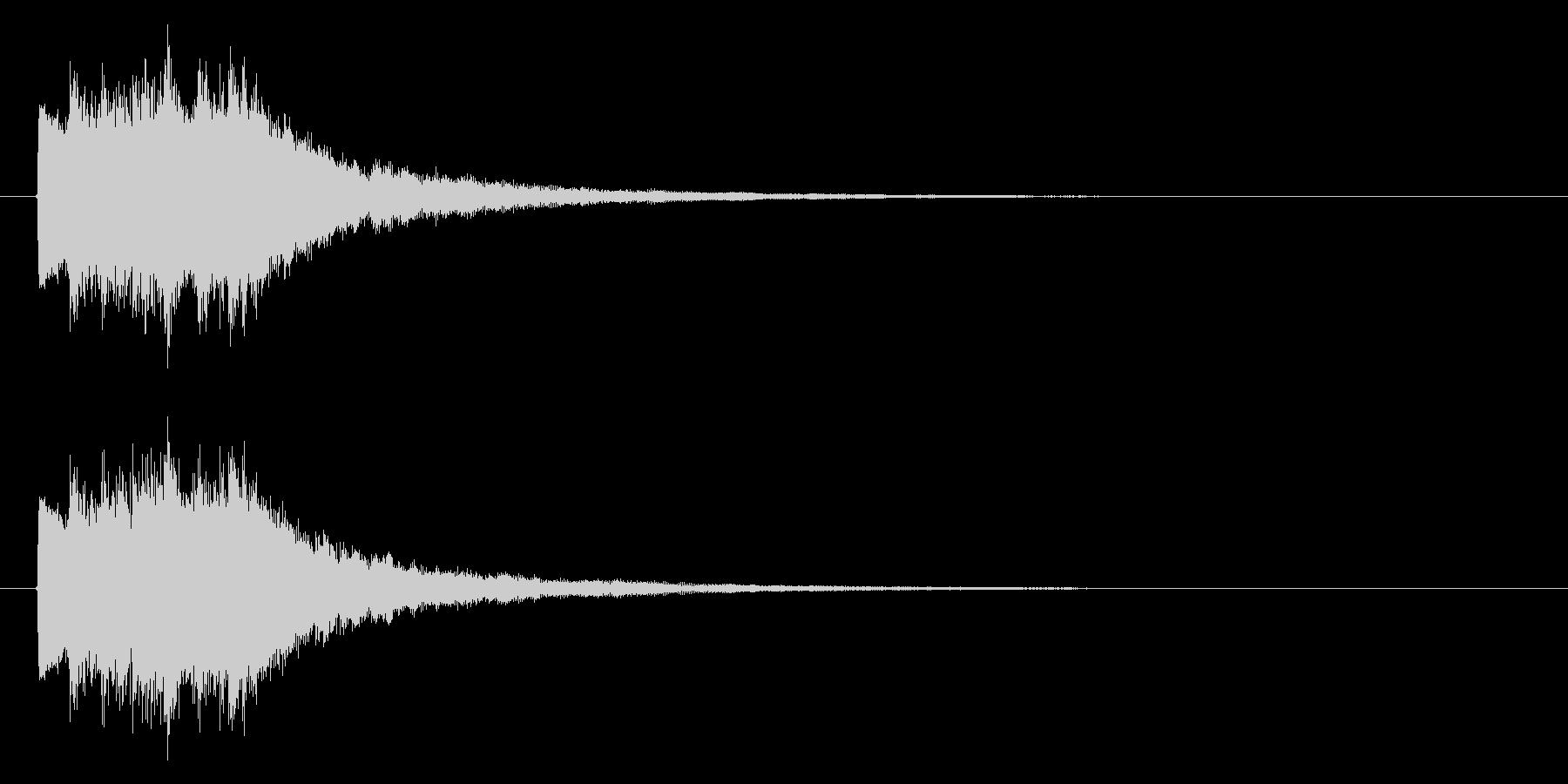 ベル系アタックの未再生の波形