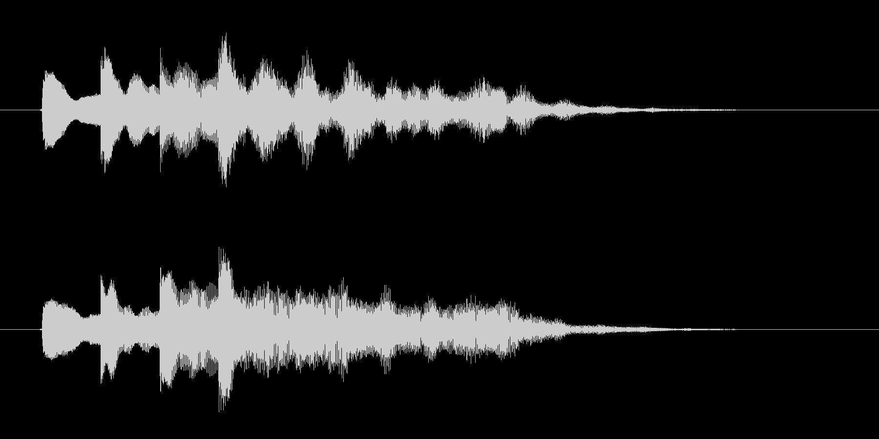 ポンポンポンポン(不思議な木琴の音)の未再生の波形