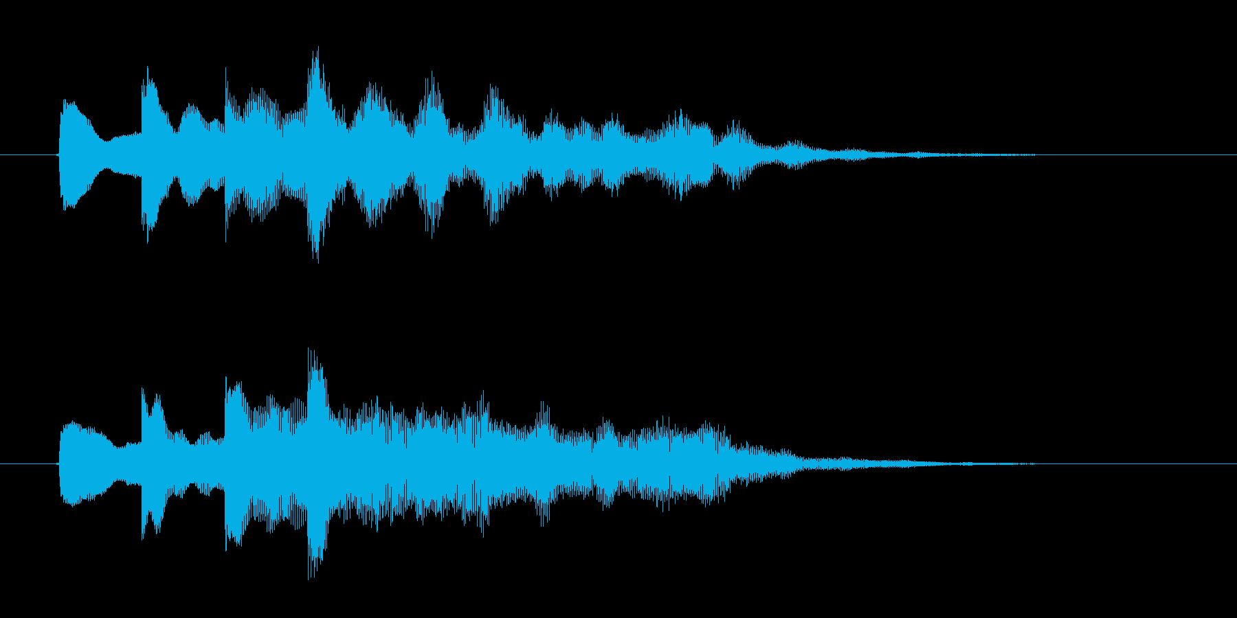 ポンポンポンポン(不思議な木琴の音)の再生済みの波形